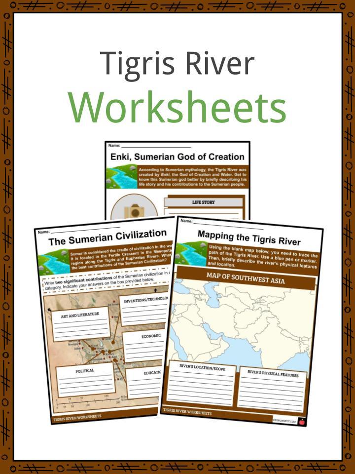 Tigris River Worksheets