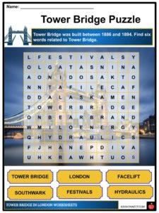 Tower Bridge Facts, Worksheets, Physical Description