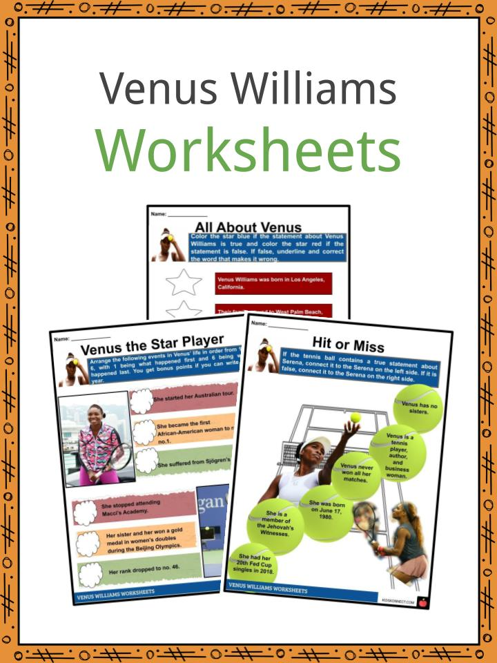 Venus Williams Worksheets