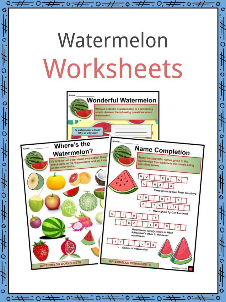 Watermelon Worksheets