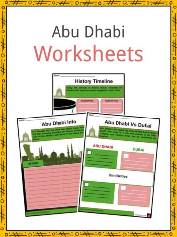 Abu Dhabi Worksheets