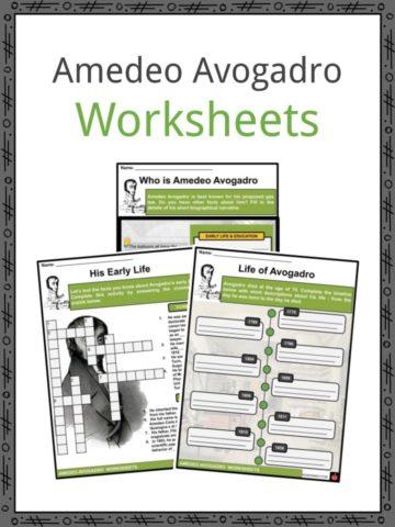 Amedeo Avogadro Worksheets