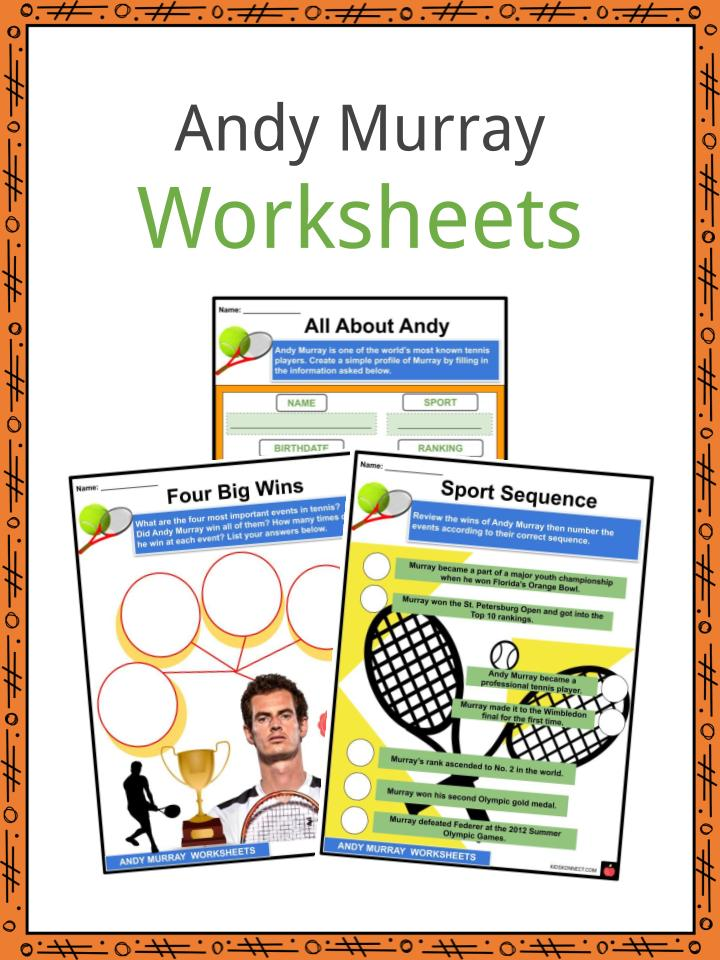 Andy Murray Worksheets