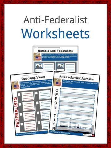 Anti-Federalist Worksheets