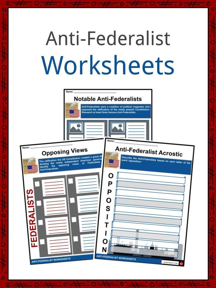 Anti-Federalist Worksheets