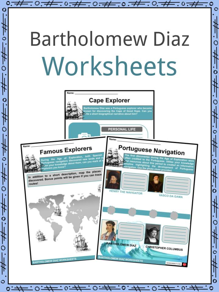 Bartholomew Diaz Worksheets