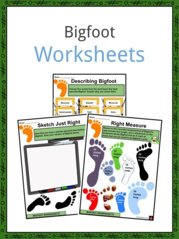 Bigfoot Worksheets