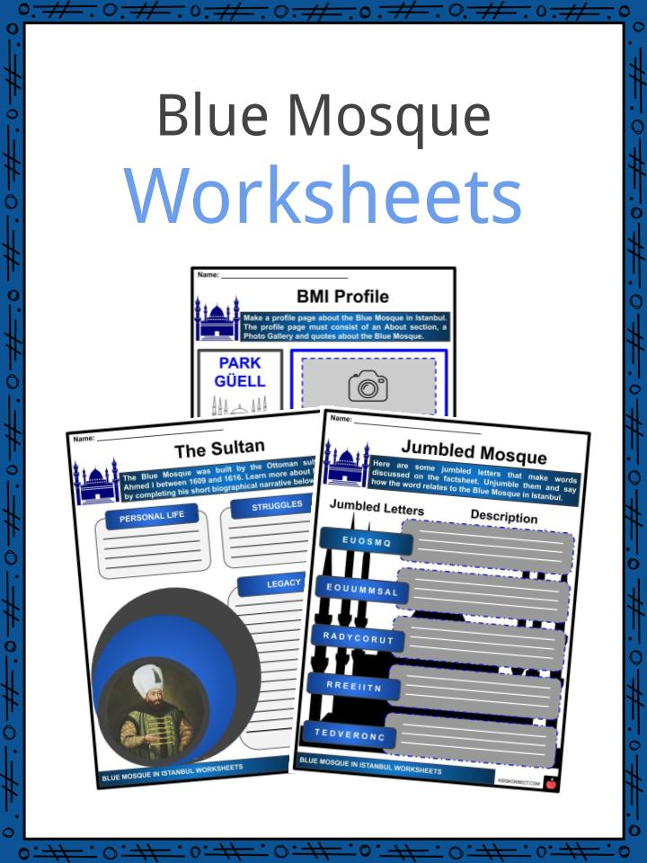 Blue Mosque Worksheets