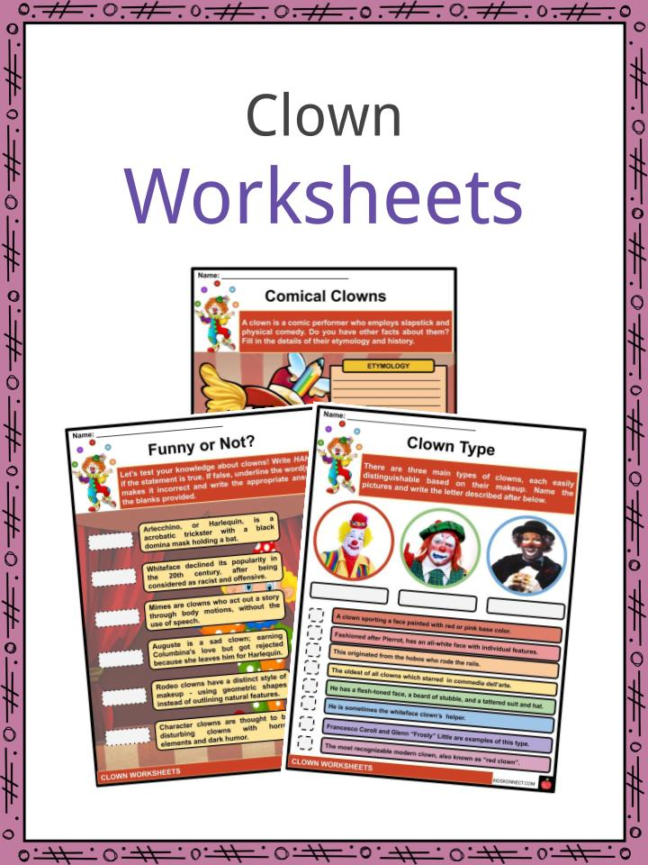Clown Worksheets