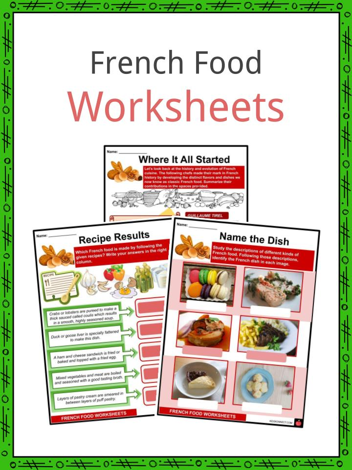 French Food Worksheets