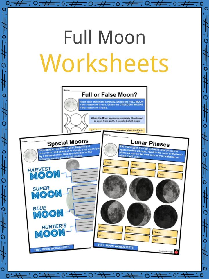 Full Moon Worksheets