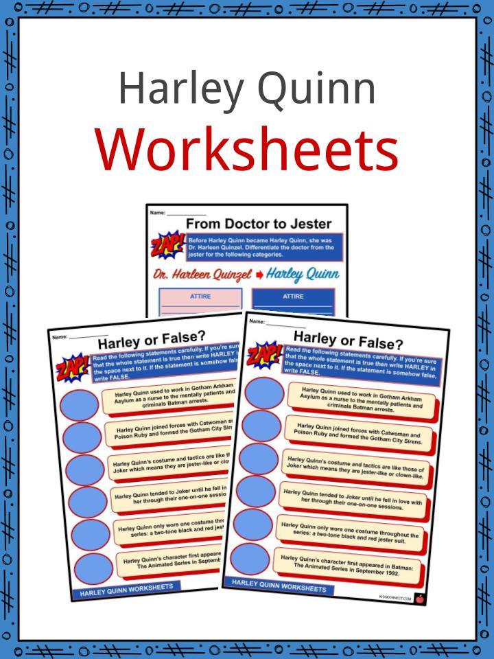 Harley Quinn Worksheets