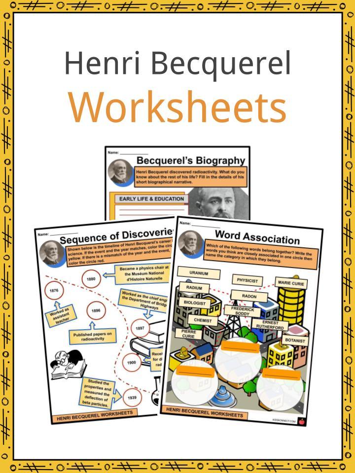 Henri Becquerel Worksheets