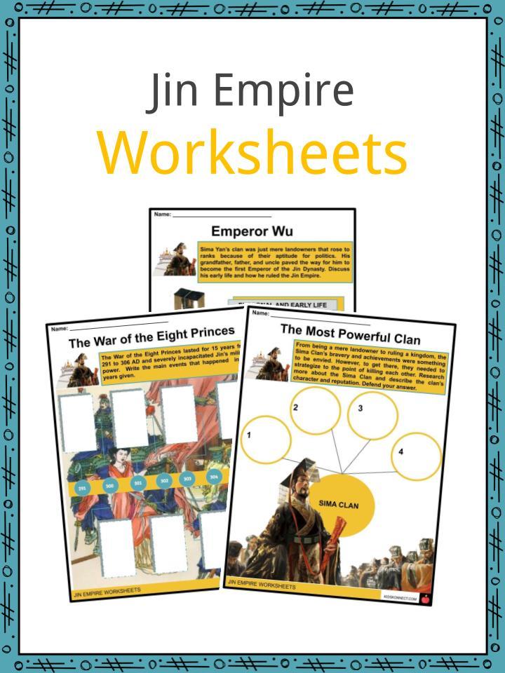 Jin Empire Worksheets