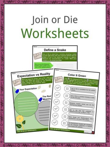 Join or Die Worksheets