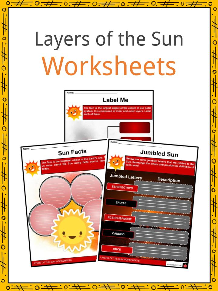 Layers of the Sun Worksheets