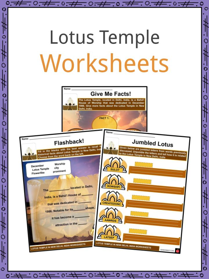Lotus Temple Worksheets