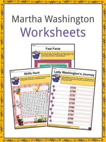 Martha Washington Worksheets