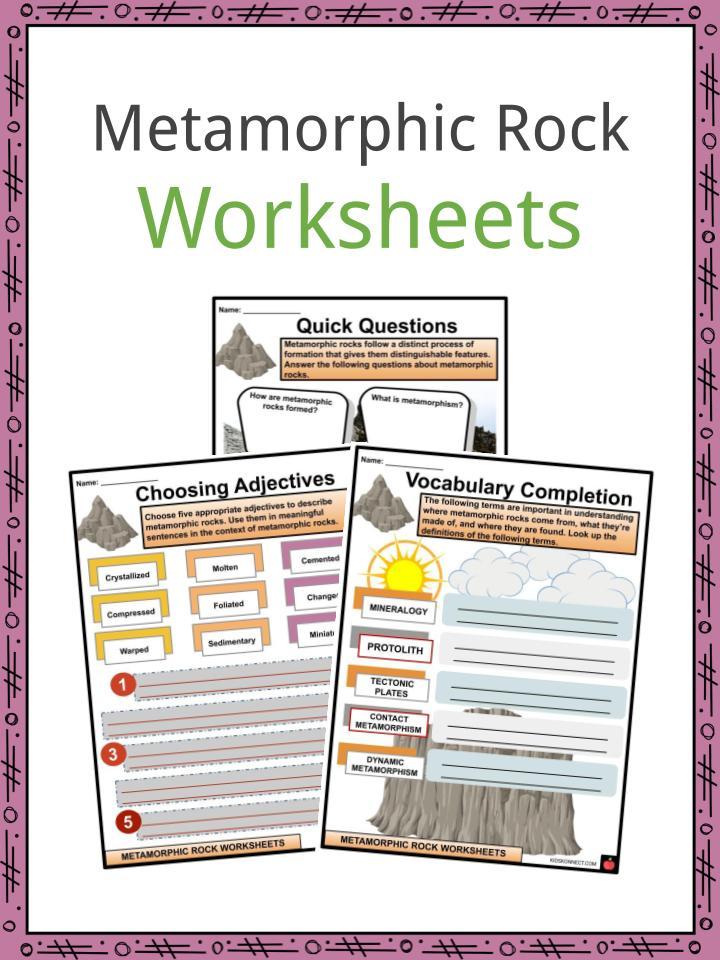 Metamorphic Rock Worksheets