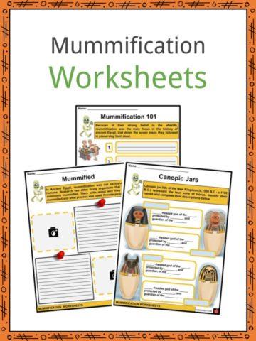 Mummification Worksheets