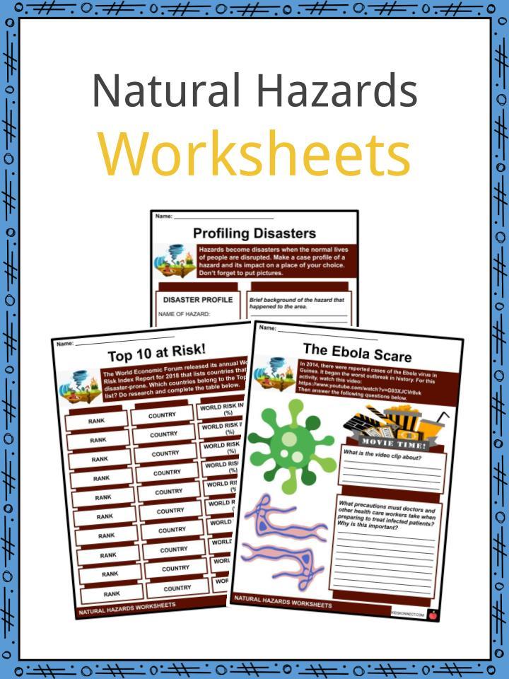 Natural Hazards Worksheets