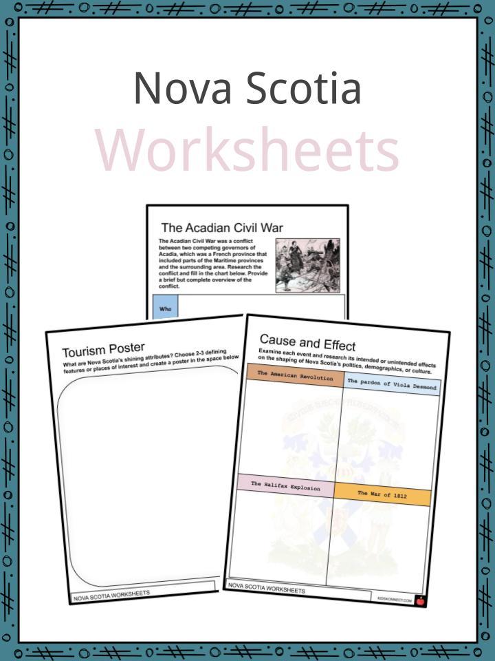 Nova Scotia Worksheets