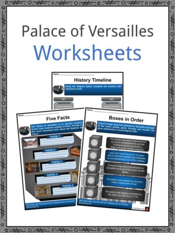 Palace of Versailles Worksheets
