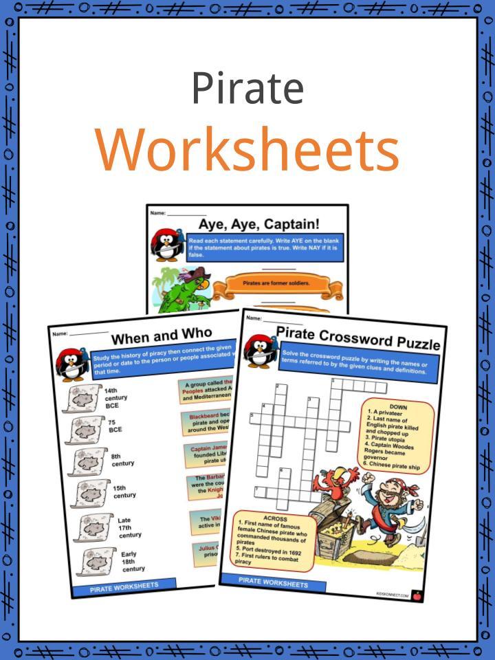 Pirate Worksheets