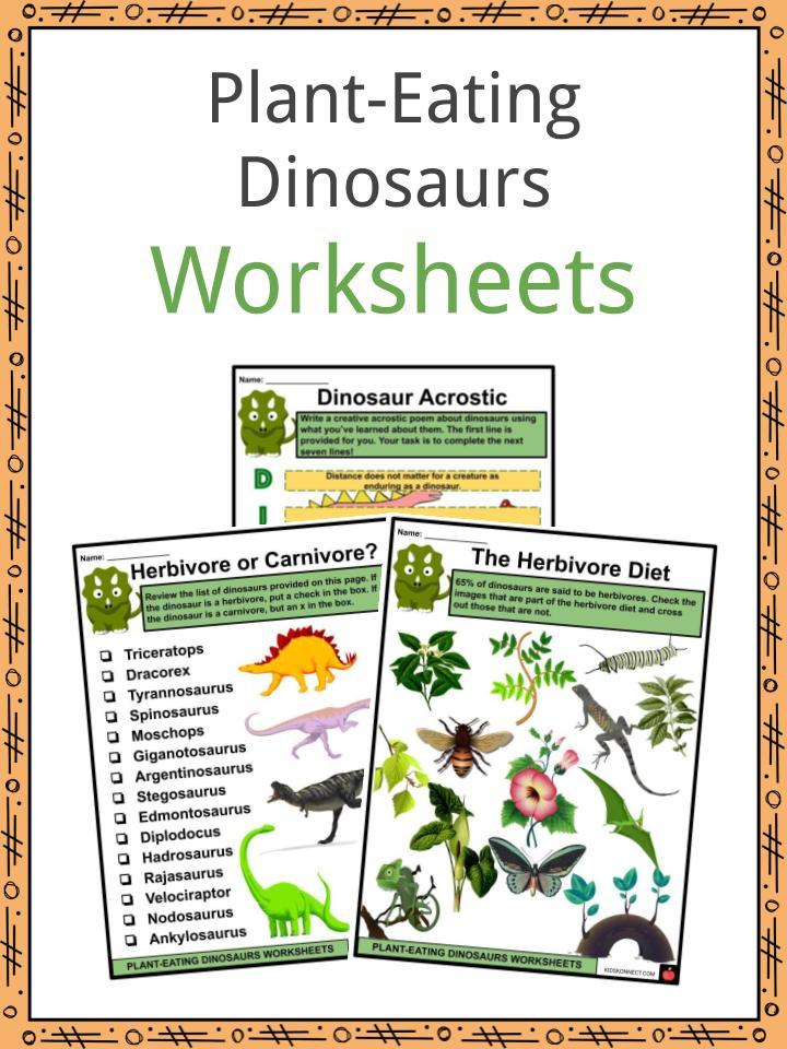 Plant-Eating Dinosaurs Worksheets