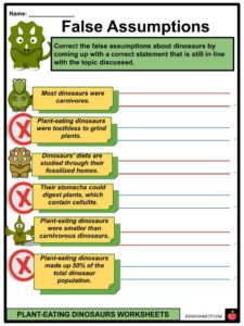 Plant-Eating Dinosaurs Facts & Worksheets For Kids