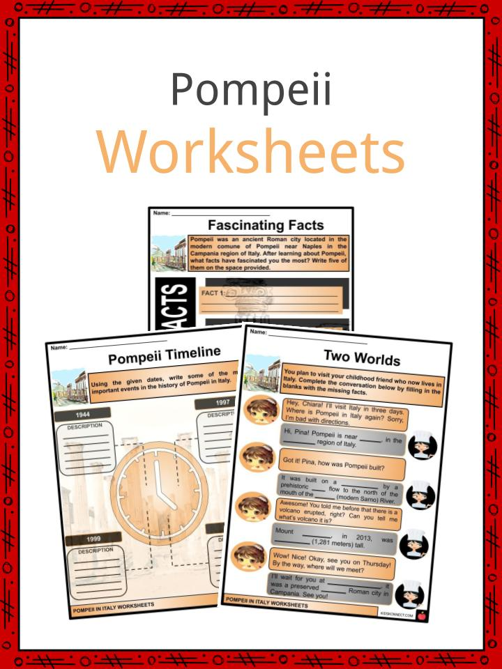 Pompeii Worksheets