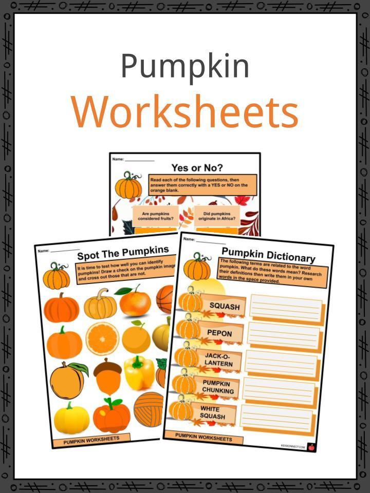 Pumpkin Worksheets