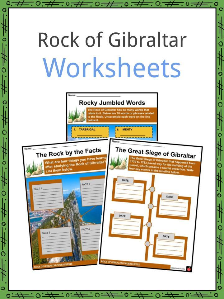 Rock of Gibraltar Worksheets