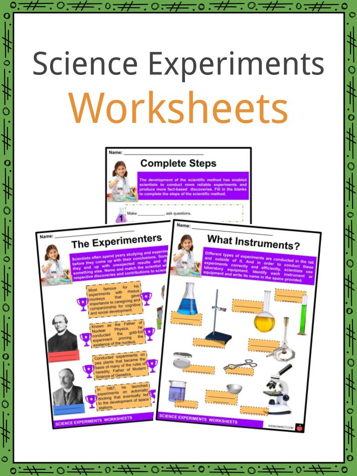 Science Experiments Worksheets