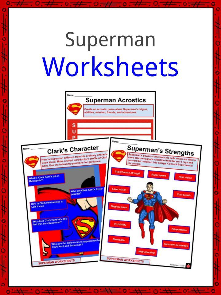 Superman Worksheets