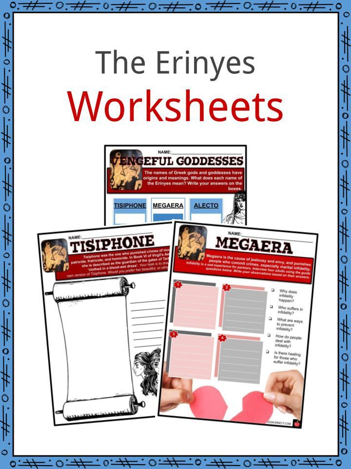 The Erinyes Worksheets