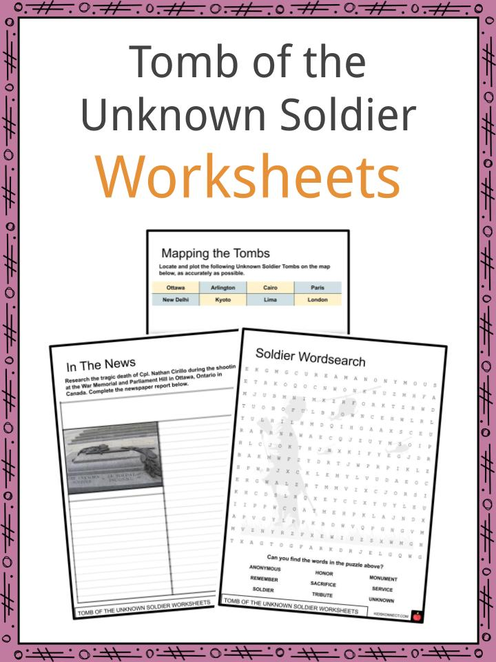 Tomb of the Unknown Soldier Worksheets