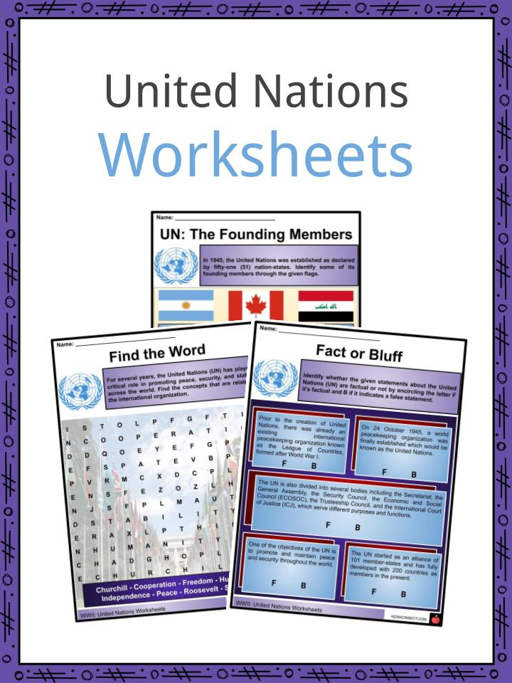 United Nations Worksheets