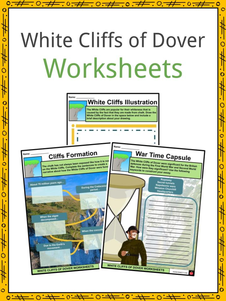 White Cliffs of Dover Worksheets