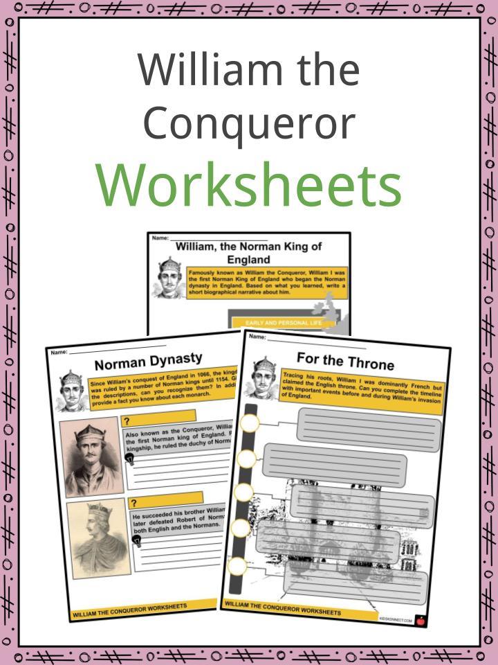 William the Conqueror Worksheets