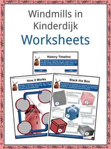 Windmills in Kinderdijk Worksheets