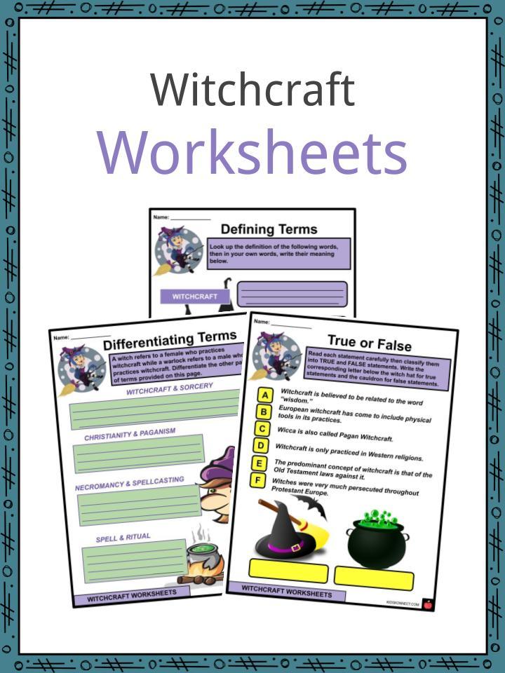 Witchcraft Worksheets