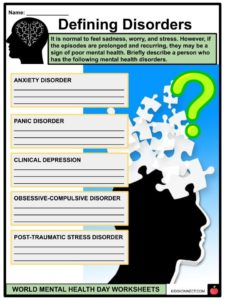 World Mental Health Day Facts & Worksheets For Kids