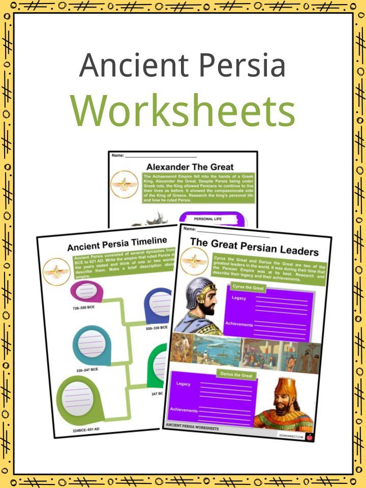 Ancient Persia Worksheets