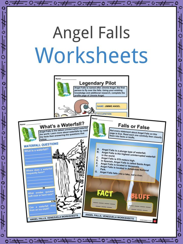 Angel Falls Worksheets