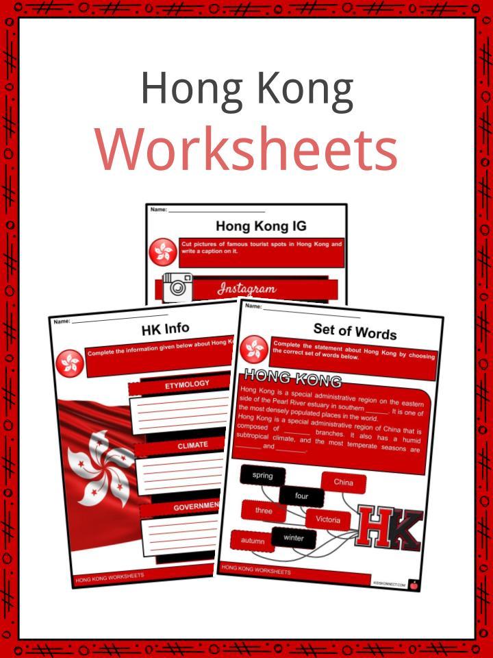 Hong Kong Worksheets