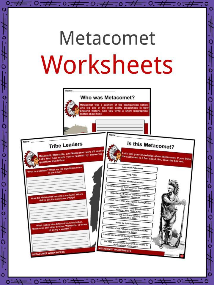 Metacomet Worksheets