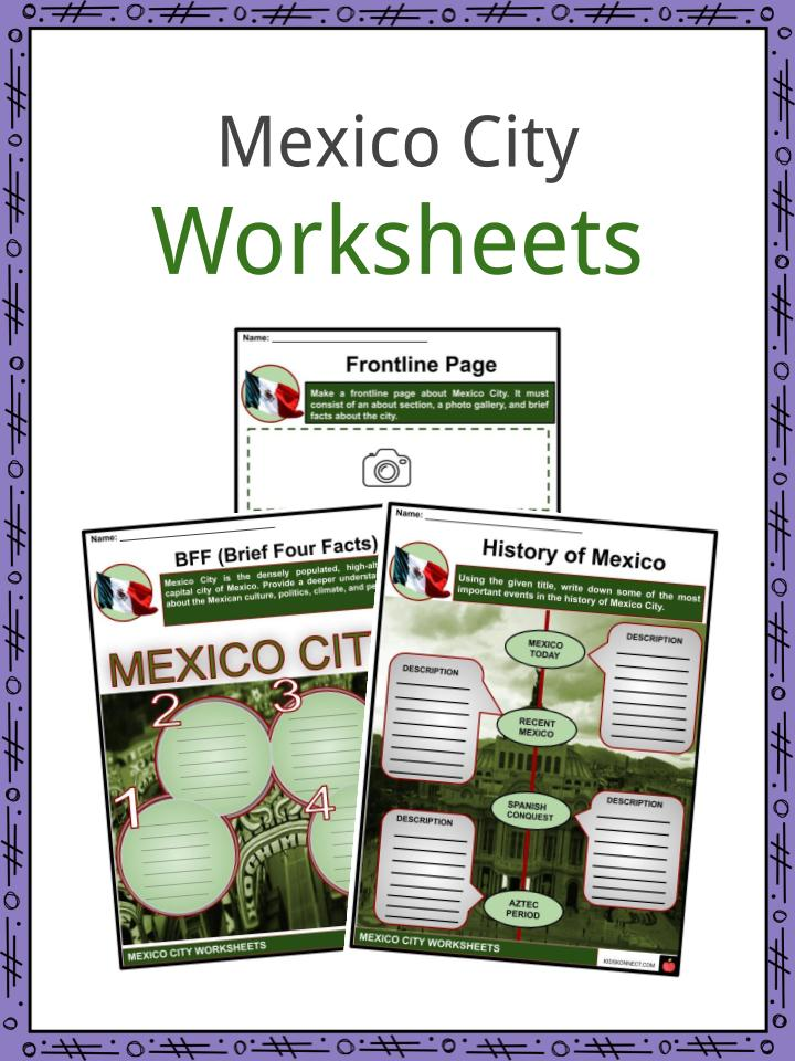 Mexico City Worksheets