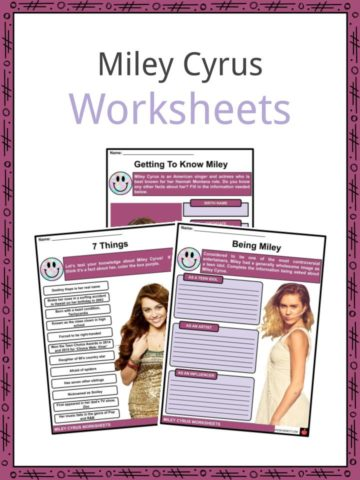 Miley Cyrus Worksheets