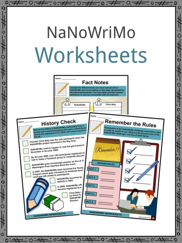 NaNoWriMo Worksheets